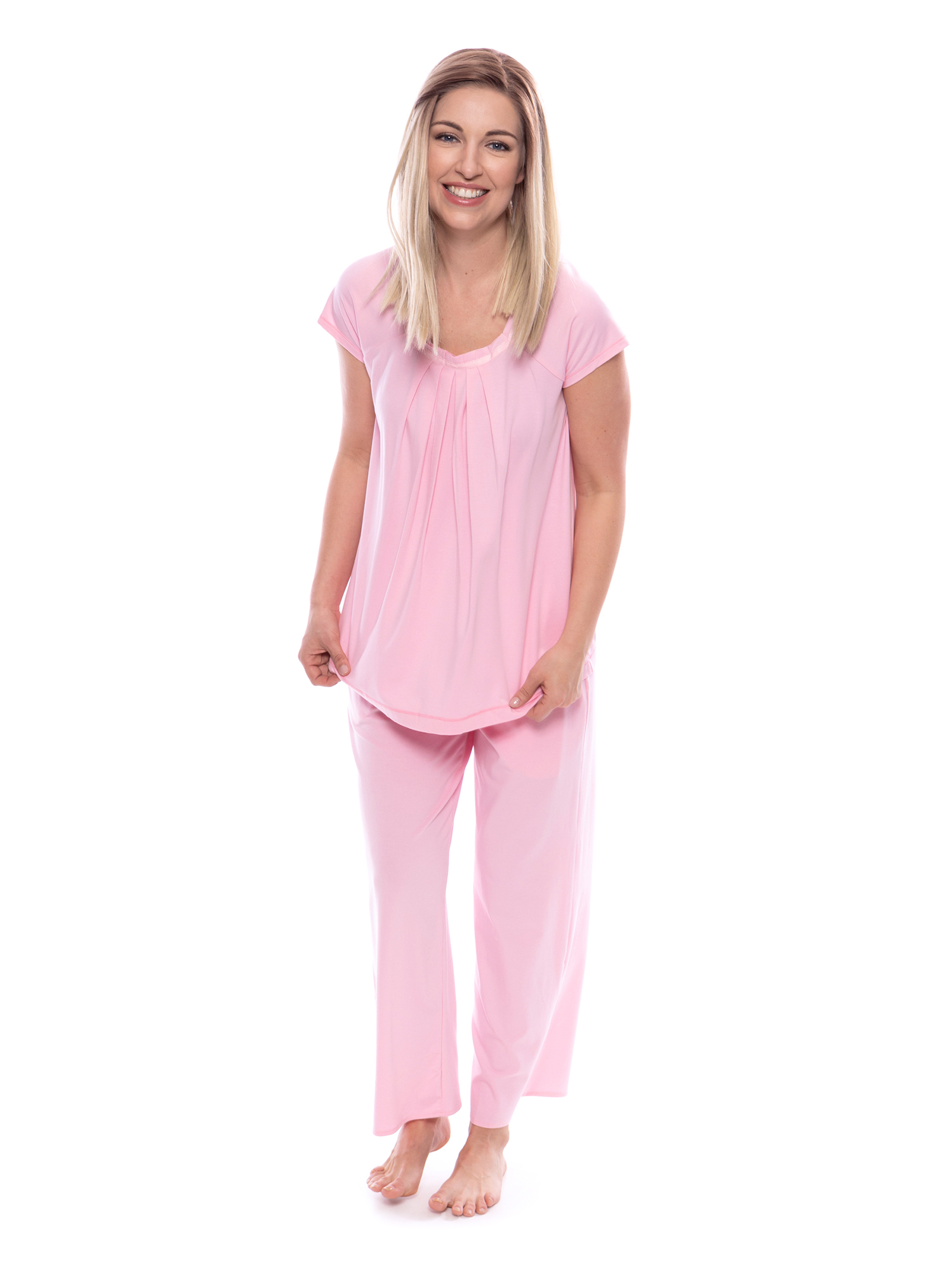 Women s Pajamas in Bamboo Viscose (Bamboo Bliss) Cozy Sleepwear Set ... 592be9441