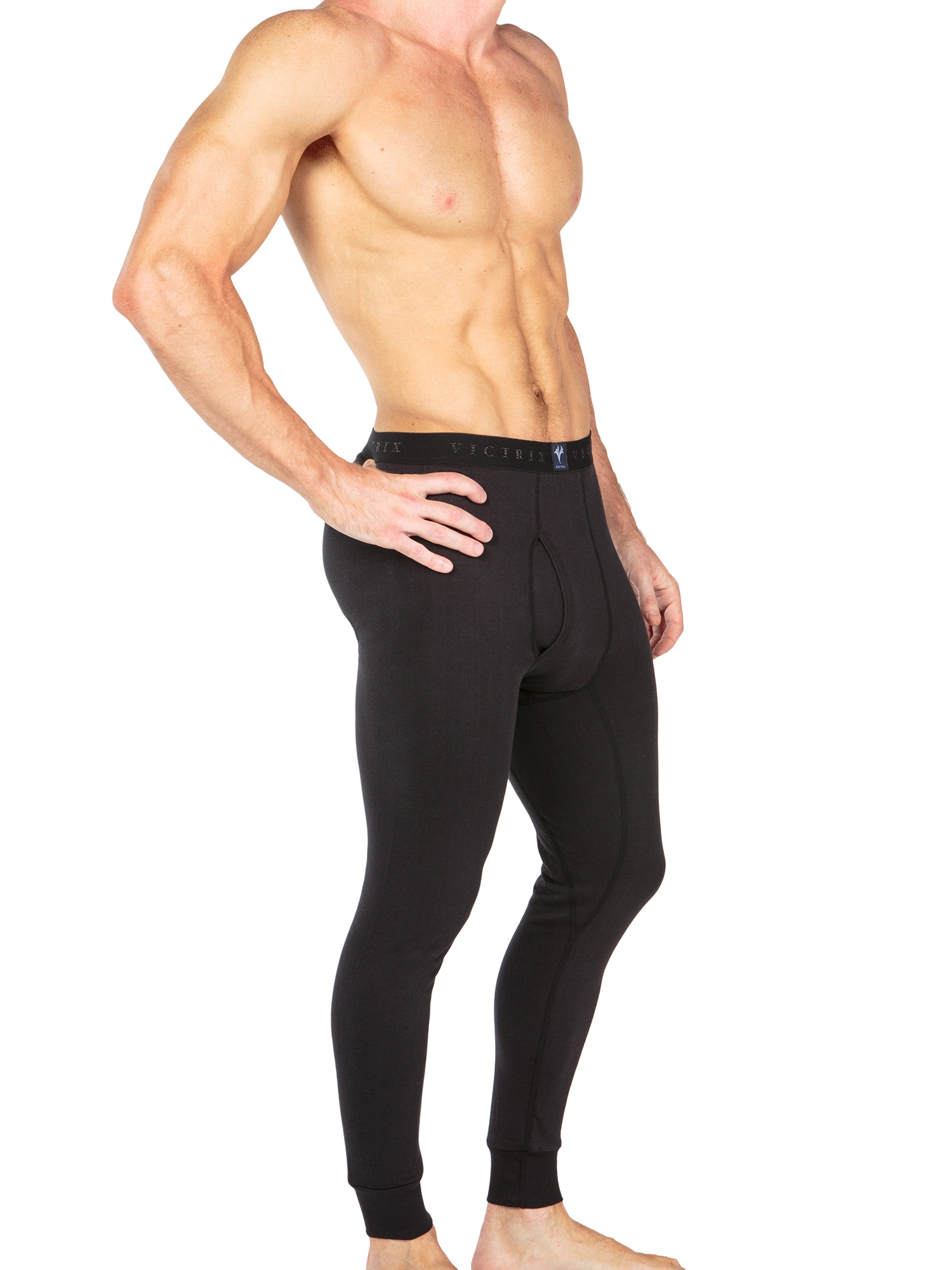 Men-039-s-Thermal-Underwear-Long-John-Pants-Luxury-Base-Layer-Thermals-for-Men miniatuur 3