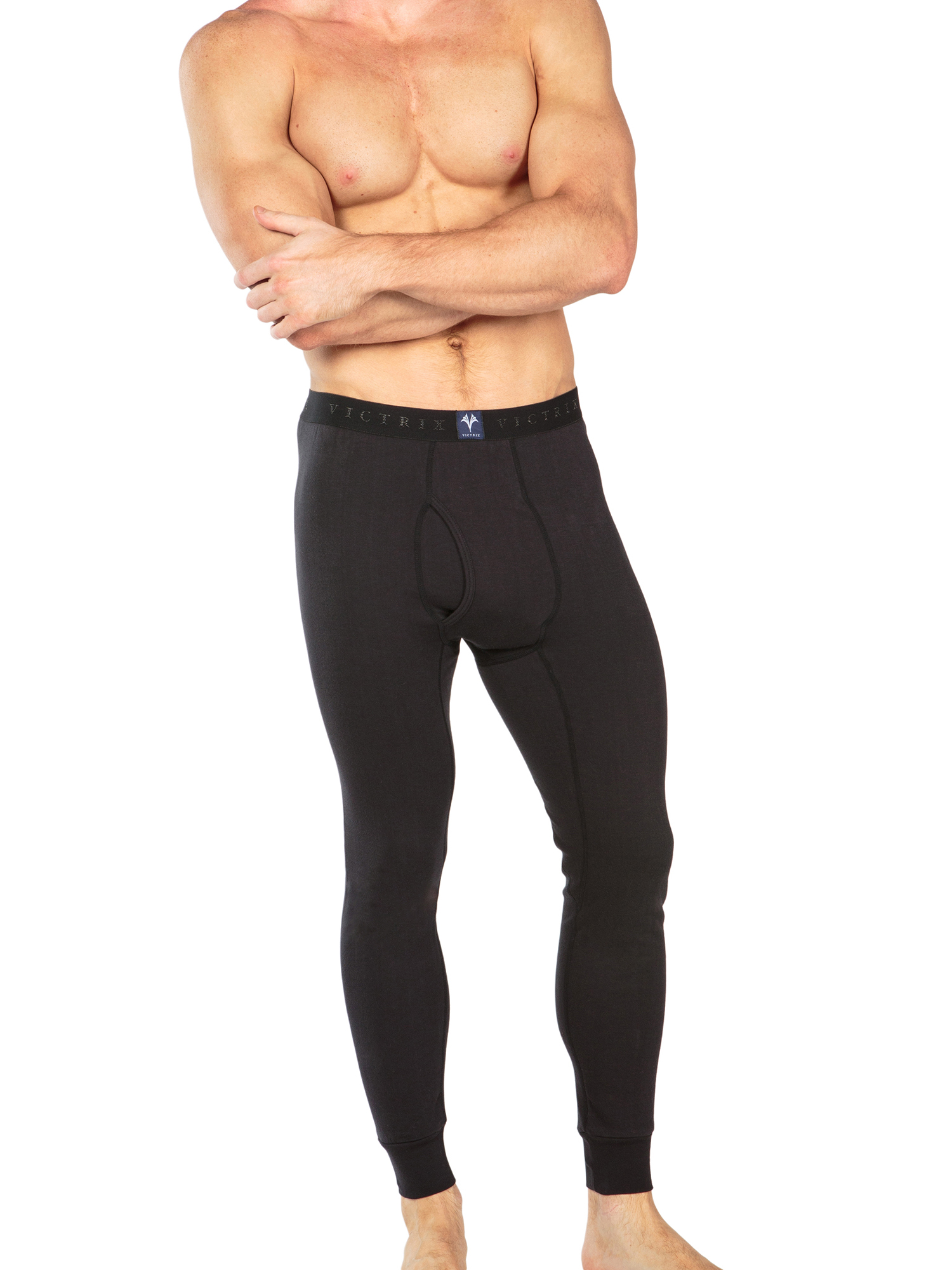 Men-039-s-Thermal-Underwear-Long-John-Pants-Luxury-Base-Layer-Thermals-for-Men miniatuur 5