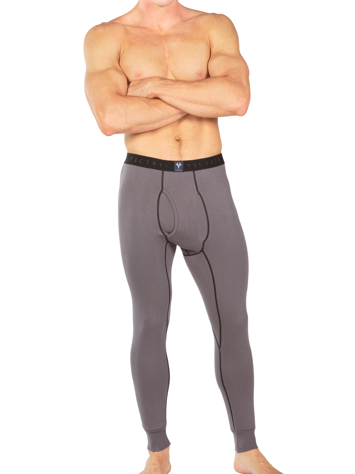 Men-039-s-Thermal-Underwear-Long-John-Pants-Luxury-Base-Layer-Thermals-for-Men miniatuur 8